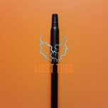Puitvars 155cm, Ø25 mm, keermega, must värvi VIKAN
