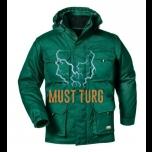 Talvejope eemaldatavate käiste ja kapuutsiga, roheline, suurus XL
