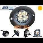 Nööp vilkur-LED 12-24V, kollane, 21 vilkumisrežiimi, IP67