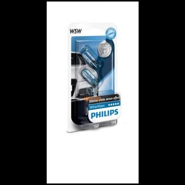 e16f6e7796a Autopirn 5W WHITEVISION ilma soklita, pakendis 2tk Philips @ Black ...