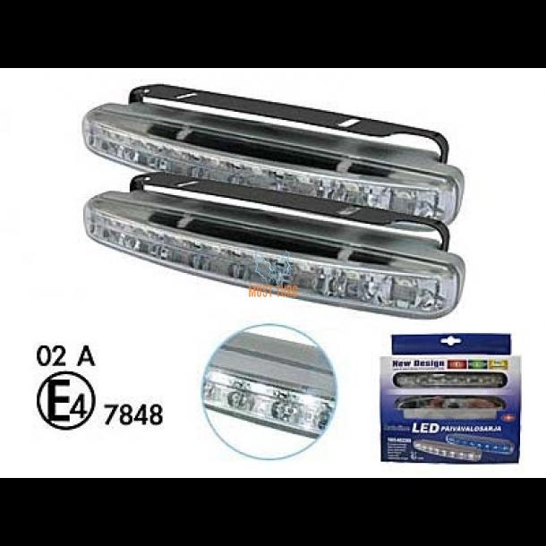 a47dc9a2603 LED-päevatuled 12V, 8xled, 157x18x43mm @ Must Turg