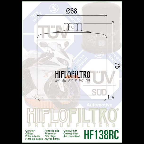 Ölfilter Hiflo HF138 für Suzuki ATV LT-F400 K2,K3,K4 Eiger 2x4  02-04