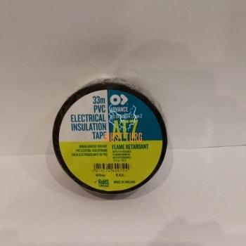 Electrician tape black width 30mm roll 33m