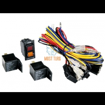 Wiring set for fog or high beam switch + 2x relay + wiring set