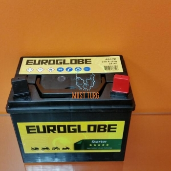 Lawn mower battery 12V, 24A, charged, acidified 185X125X162 - / + 12N24-3-H