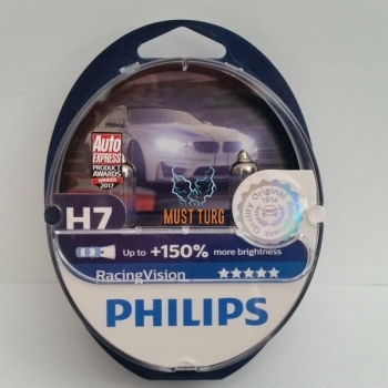 Car bulb Philips H7 RacingVision + 150% 2pcs