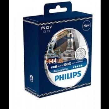 Autopirn PHILIPS H4 RACINGVISION +150 2tk