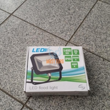 LED-prožektori õhuke, must, 20W, 220-240V, 1400lm, 4000K