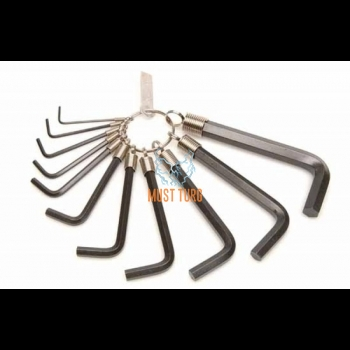 Allen key set 1,5-10 rings Kamasa Tools