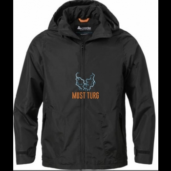 Raincoat waterproof 10000mm black size S