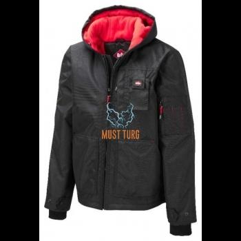 Talvejope vett ja tuultpidava kangaga, must, suurus XL