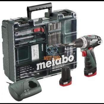 Akutrell Metabo PowerMaxx, 63 osa, (2x2,0Ah)
