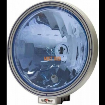 High beam H1 / 55W park T10 / 5W with bulb holder REF 17.5 with blue glass SIM