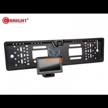 """Tagurduskaamerasüsteem 4.3"""" numbrialusega"""