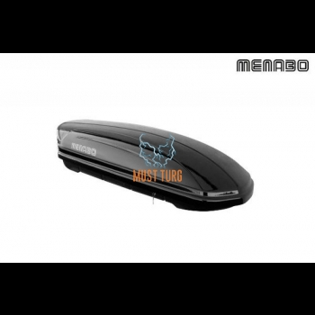 Katuseboks 320L 138x79x37cm must Menabo