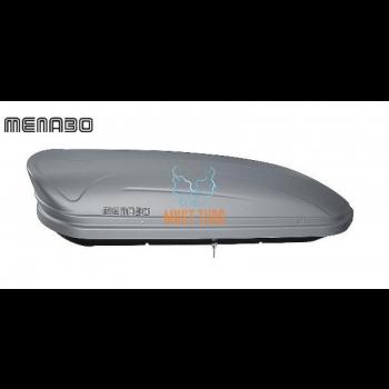 Katuseboks 400L 165x79x37cm hõbe Menabo