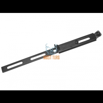 Extra light support in stainless steel reinforced black