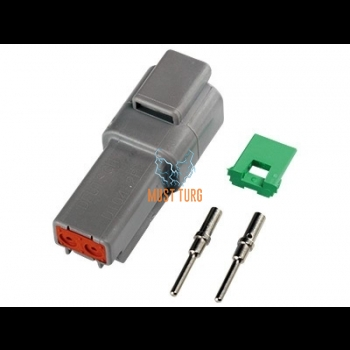 Connector Deutsch 2-pin male for cable 0.5-1.5mm² DT series
