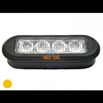 Uputatav vilkur-LED 12-24V, kollane, 19 vilkumisrežiimi, ECE R65/R10, IP68