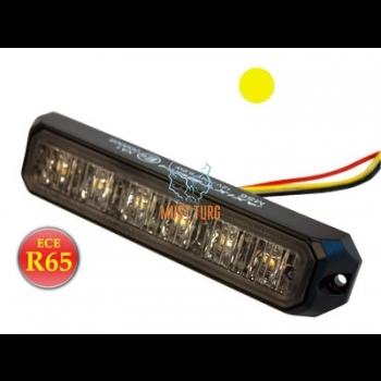 Uputatav, pindvilkur-LED 12-24V, kollane, 5 vilkumisrežiimi, R65, IP67, -516