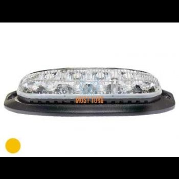 Surface mounted LED, vertical mounting, 12-24V, yellow, 19 flashing, ECE R65/10, IPX7
