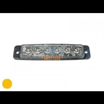 Pindvilkur-LED 12-24V, kollane, 19 vilkumisrežiimi, ECE R65, IP67