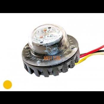 Nööp vilkur-LED 12-24V, kollane, 19 vilkumisrežiimi