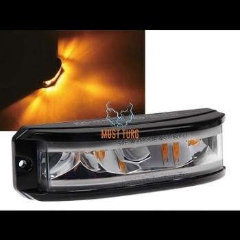 Pindvilkur-LED 180° 12-24V, kollane, 16 vilkumisrežiimi, ECE R65/R10 IP68