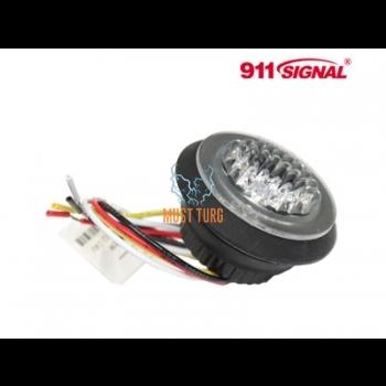 Nööp vilkur-LED 12-24V, kollane, 13 vilkumisrežiimi, ECE R65/10