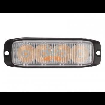 Pindvilkur-LED 12-24V, kollane, 18 vilkumisrežiimi, ECE R65/R10, IP67