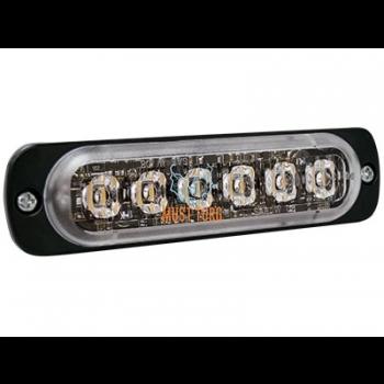 Pindvilkur-LED õhuke 9mm, vertikaalpaigaldus, 12-24V, kollane, 23 vilkumisrežiimi, ECE R65, IPX8