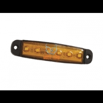 Ääretuli led kollane 12-24V, E-sert.