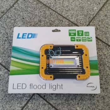 Led searchlight with battery 10W 1000lm 6000K