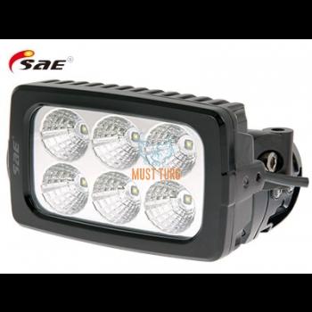 LED-töötuli 9-36V 30W 2988lm RFI/EMC-sertifikaat IP68 SAE