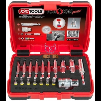 Torx nozzle set for damaged screws KS Tools