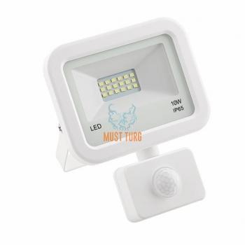 LED prožektor liikumisanduriga valge 10W, 800lm, 4000K