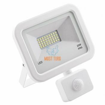 LED prožektor liikumisanduriga valge 20W, 1600lm, 4000K