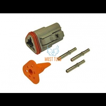 Connector for Deutsch 3-pin cable 0.5-1.5mm² DT series