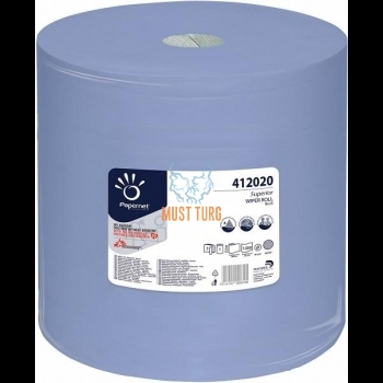 Rullpaber 3-kihiline kvaliteetpaber, ebemevaba 360mx37cm sinine