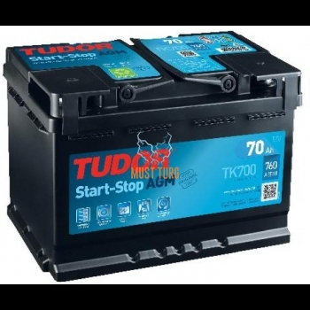 Autoaku 70Ah 760A 278X175X190MM -/+ AGM START-STOP Tudor