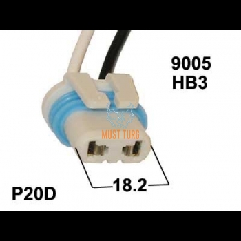 Connector for bulbs HB3 / 9005 H10 / 12363 P20D / PY20D