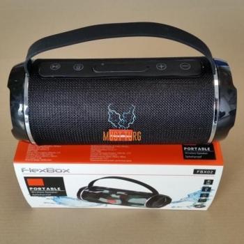 Kaasaskantav bluetooth kõlar-raadio FlexBox, niiskuskindel, must