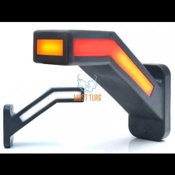Ääretuli LED vasak, 12-24V, tagumise suunatulega