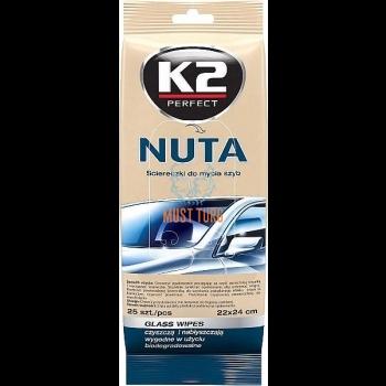 Klaasipuhastuslapid K2 Nuta, 22x24cm, 25tk