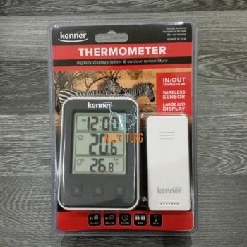 Termomeeter juhtmevaba, sise-ja välis (andur 50m) Kenner