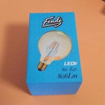 Lambipirn LED filament 8W 806lm E27 pall kuldne toon