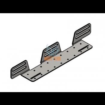 Tulede kinnitus alus roostevaba teras kolmele tulele paksus 3mm