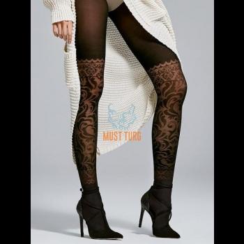 Sukkpüksid mustriga Fiore Couture 40den mustad