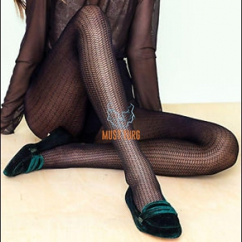 Patterned tights 30den black Fiore New Wave
