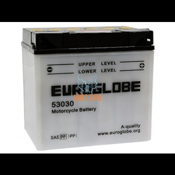 Motorcycle battery 30Ah -/+ 12V 186x130x171mm